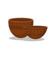 prehistoric clay bowls stone age symbols vector image vector image