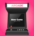 realistic detailed 3d arcade game machine vector image