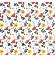 retro floral doodle pattern flowers background vector image vector image