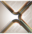 Retro lines vector image