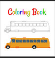 school bus coloring page back to concept vector image