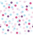 seamless pattern of colorful party confetti vector image