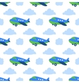 Seamless planes pattern vector image vector image