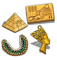 set attributes and jewelry on theme of vector image vector image