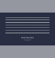 set nautical rope brushes vector image vector image
