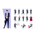 set of business characters isolated on white vector image vector image