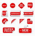 shopping sales and discounts promotional labels vector image vector image