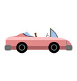 side view of a vintage car vector image