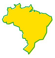 simplified map of brazil outline fill and stroke vector image