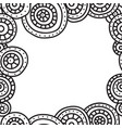 square frame of circles with black outline on vector image vector image