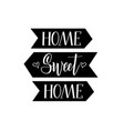 sweet home calligraphy lettering design vector image vector image