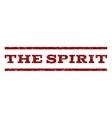 The Spirit Watermark Stamp vector image