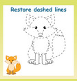 trace game for childrencartoon fox restore vector image