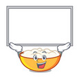 up board cottage cheese character cartoon vector image