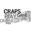 why not play craps online text word cloud concept vector image vector image