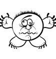 Wierd cartoon monster absolute crazy numskull vector image vector image