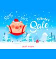 winter sale bannerdiscount poster vector image vector image