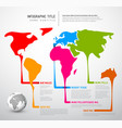 world map with pointer marks vector image vector image