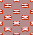 Yells lips seamless pattern Creek background vector image vector image