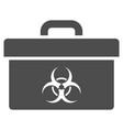 biohazard toolbox flat icon vector image