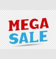 mega sale message vector image