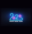 2020 new year neon sign glowing new year vector image vector image