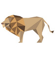 abstract low poly lion icon vector image vector image