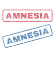 amnesia textile stamps vector image
