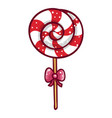 baby lollipop sweet candy dessert for kids vector image