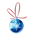 Blue christmas ball icon cartoon style vector image