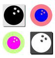 bowling ball flat icon vector image