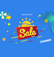 bright sale banner template blue design with vector image vector image