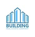 Building logo or symbol icon vector image vector image