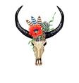 Bull Skull Poppy vector image vector image