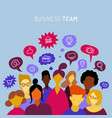 business team sharing ideas talking teamwork vector image vector image