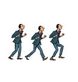 businessman walks gait character phase vector image