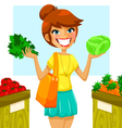 buying vegetables vector image