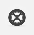 car rim icon or design element vector image vector image