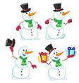 cartoon snowman vector image