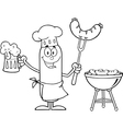 Chef Sausage Cartoon vector image vector image