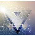 Chemistry 3D pattern hexagonal molecule structure vector image vector image