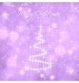 christmas tree light and snow flakes vector image vector image