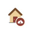 cloud house housing home residence vector image vector image