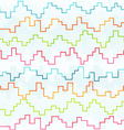 colored pixel zigzag seamless pattern vector image vector image