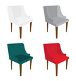 colorful chair isolated on white background vector image