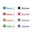 Contact us buttons vector image vector image