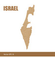 detailed map of israel cut out of craft paper vector image