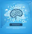 development new idea concept web banner with copy vector image vector image