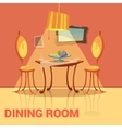 Dining Room Retro Design vector image vector image
