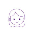 dotted shape avatar girl head with hairstyle vector image vector image